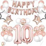 TaimeiMao 10er Cumpleaños Globos, Decoración de Cumpleaños 10, Globos Numeros Decoracion,Globos de Cumpleãnos,Globos...