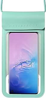 Waterproof Phone Case Universal Dry Bag Pouch Compatible for Samsung Galaxy S10+ S9+ S8+ / A20 A30 A50 M30 / A7 A8+ J8 / Nokia 3.2 / HTC U12 Life/OnePlus 6T / BlackBerry KEY2 / BLU Vivo XL4 (Aqua)