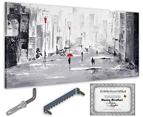 exclusive-gallery I Monica Mirafiori I Gemälde It's Raining I 140x70cm | XXL Leinwandbild handgemalt | Acrylgemälde auf Leinwand | Sehr großes Acrylbild auf Keilrahmen