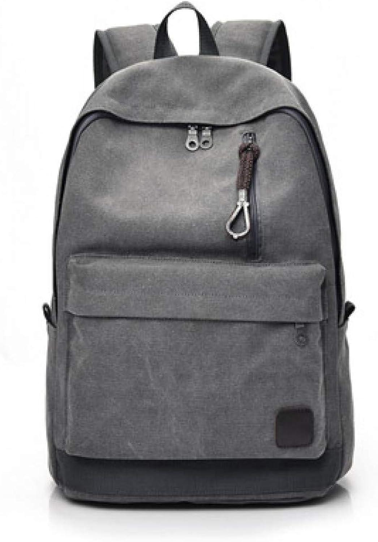 LKHJ Backpack Frauen Mnner Canvas Ruckscke Groe Schultaschen Für Teenager Jungen Mdchen Reisen Laptop Rucksack Rucksack Grau