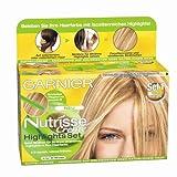 Garnier Nutrisse Creme Highlights Set 1 für helle Strähnchen, Strähnen Set zum selber machen für...