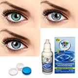 3 Pair Monthly Color contact lens, 3 Lens Case, 1 Lens solution 55% water, 35% phemfilcon A 6 soft Lenses In a strile buffered saline solution Suitable for both Male and Female Store it in a proper case, always use fresh solution and do not wear it O...