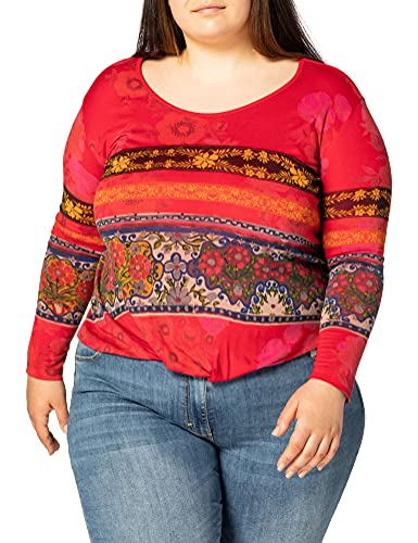 Desigual TS_YESS Camiseta, Rojo, XXL para Mujer