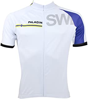 QinYing Mens Fashionable Country Symbol Cycling Race Bicycle Bike Jersey Top
