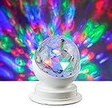 X4-Life - Lámpara led giratoria para fiestas (RGB, plástico, 10,5 x 8,8 x 8,8 cm), multicolor