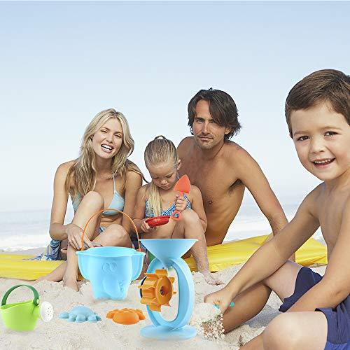 balnore Giocattoli da Spiaggia con Borsa 20 Pezzi Set Giochi Sabbia per Bambini, Giocattoli da Spiaggia Set Regali per Ragazzi e Ragazze
