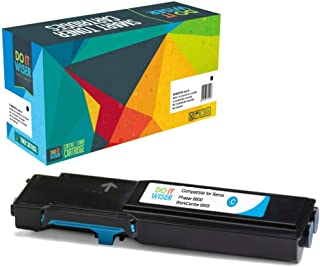 Do It Wiser Compatible Toner Cartridge Replacement for Xerox Phaser 6600, 6600n, 6600dn, 6600ydn | WorkCentre 6605, 6605n, 6605dn High Yield - 106R02225 - Cyan - 6,000 Pages