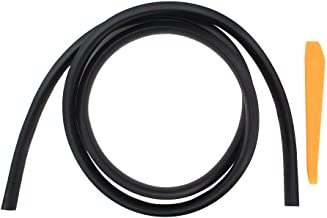 NewYall 1.6m Rubber Soundproof Dustproof Sealing Strip for Auto Car Dashboard Windshield Weatherstrip(18mm Wide x 15mm Thick)