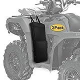MYDAYS 2 Pack ATV Fender Bags,ATV Tank Saddlebags, Rear Cargo Storage Bag for Motorcycle ATV UTV Dirt Bike (Black)