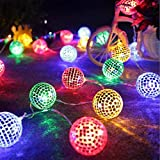 AceList Surething 9.8ft 20LED Disco Ball String Lights for Indoor/Outdoor Halloween Christmas Thanksgiving Home Party Children Bedroom Window Tree Decoration-Multicolor