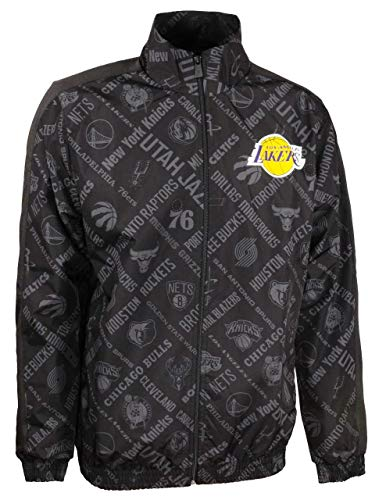 New Era NBA AOP Track Jacket Loslak Chaqueta, Hombre, Black, XL