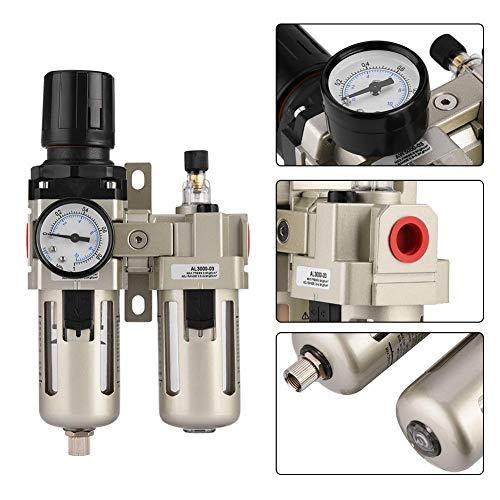 Luchtfilterregelaar, 1 stuk AC3010-03 aluminium persluchtregelaar vochtvanger waterfilter 3/8