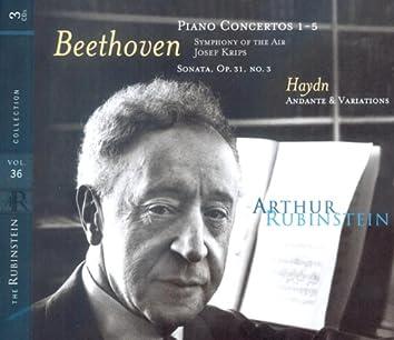 Rubinstein Collection, Vol. 36: Beethoven: Piano Concertos Nos. 1-5; Sonata No. 18; Haydn: Andante & Variations