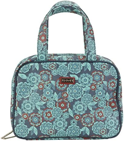 HADAKI New Orleans Women s HDK822 Coated Make Up Case Pod 11L x 3 5W x 8H in Floral product image