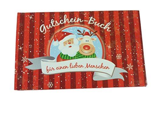 Unbekannt 2 Stück Gutschein Büchlein/Weihnachtsgutschein mit je 12 Gutscheinen, Ideal als kleines Geschenk/Aufmerksamkeit in der Weihnachtszeit