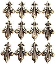 12 stks Metalen Haakse Beugel Beugel Antiek Brons Decoratieve Juwelendoos Voeten Been Meubels Decoratieve Hoek Beugels Hou...