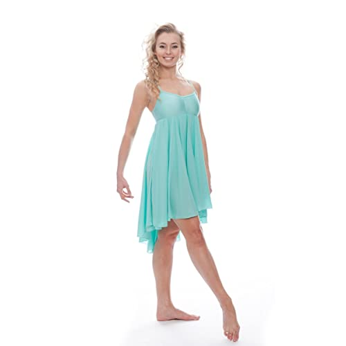 8007db536 Katz Dancewear Ladies Girls Mint Green Lyrical Dress Contemporary Ballet  Modern Dance Ballroom Costume