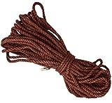 Liuer 20 Metros Cuerda de Cáñamo 6mm Grueso Cuerda de Cáñamo Cordel de Yute para Bricolaje Floristería Regalos Empaquetar Artes Manualidades Decoración Aplicaciones de Jardinería (Marrón)