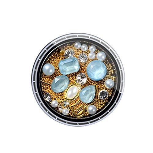 YUYOUG Mode DIY Bijoux 3D Strass Diamants colorés Nail Art Décoration (G)