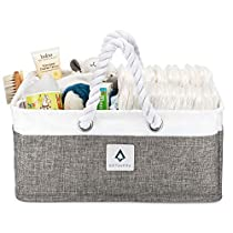 AvitaVera Baby Diaper Caddy Organizer - Nursery Storage Basket and Bag for Changing Table/Car