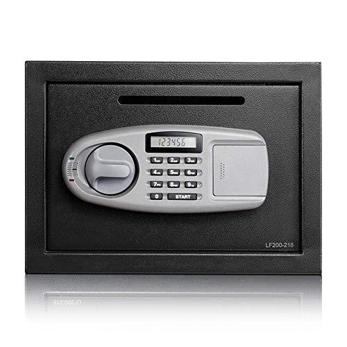 Seguro Caja fuerte de seguridad digital electrónica, pared o un armario de anclaje de diseño for Ministerio del hotel joyería Efectivo almacenamiento seguro Inicio (Color: Negro, Tamaño: 25x35x25cm) P