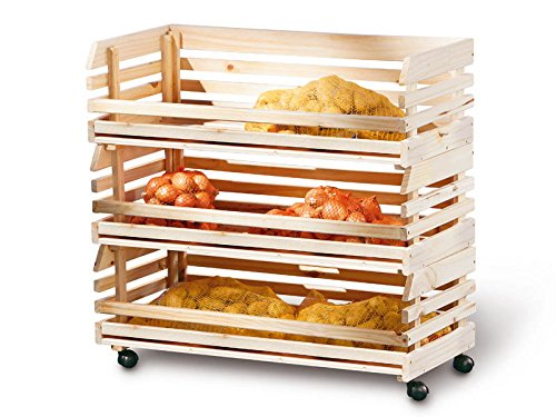 Inter Link Mr. Potato 60100450 Carro de Cocina, Natural, 79 x 30 x 80H cm