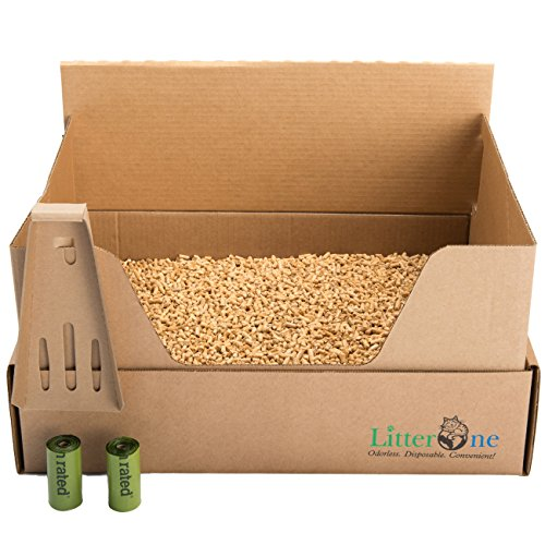 Litter One Biodegradable Cat Litter - 1 Kit, Brown