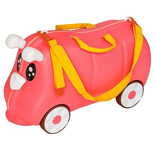 TecTake - Maleta de viaje con ruedas para niños coche infantil caja de juguetes