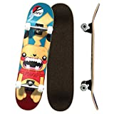 Yocaher Punked Complete Skateboards 7.75' or Mini Cruiser or Micro Cruiser Shapes - Pika and Chimp Series (Complete -01- 7.75' Pika)