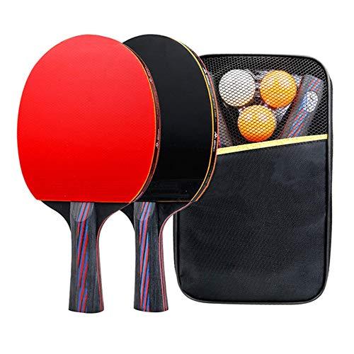 LHAA Ping Pong Paddle Set, 2 piezas de paleta 3 Bolas portátil 1 tenis de mesa neto for cualquier tabla raqueta de tenis Set perfecto for el hogar interior o exterior Juego para jugar al tenis de mesa