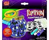 Crayola Galaxy No Carve Pumpkin Decorating Kit, Less Mess Kids Paint Set, Glow in The Dark Stickers