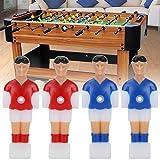 Cuque Jugador de fútbol de Mesa, Ligero 105 * 36,5 * 4 mm Juego de Jugador de futbolín, 12,7 mm de diámetro de Agujero 2 Colores de Ocio para niños de Juego de fútbol de Mesa