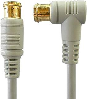 地デジ・BS・CS放送対応 アンテナケーブル 3.0m S4CFB 4C同軸ケーブル L型プラグとストレートプラグ/Z-030[バルク]