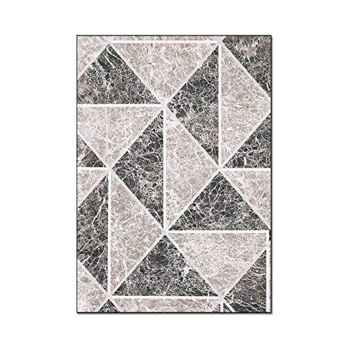 Tapijten Woonkamer Driehoek geometrisch donkerblauw grijs Design Karpetten voor keuken woonkamer slaapkamer nachtkastje tapijt vloermat Tapijt,80 * 160cm