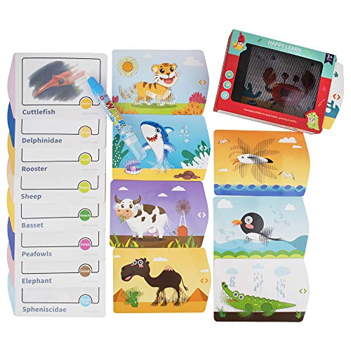 $4.99  Price Drop Magic Water Painting Flash Cards for Toddlers, 16 pcs No promo code needed