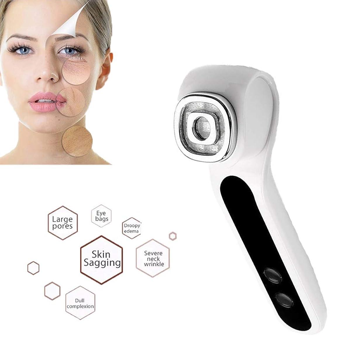 鋸歯状木アスペクト美容化粧品LED光子療法RF + EMSリフティングイオンクレンジング振動肌の整形マッサージ用家庭用