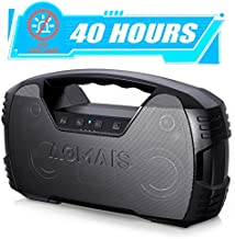 Portable Waterproof Bluetooth Speakers, 40-Hour Playtime Wireless Outdoor Speaker, 25W Rich Bass Impressive Sound, Stereo Pairing, Built-in Mic, 100ft Bluetooth for Home Party (NO LED Lights)