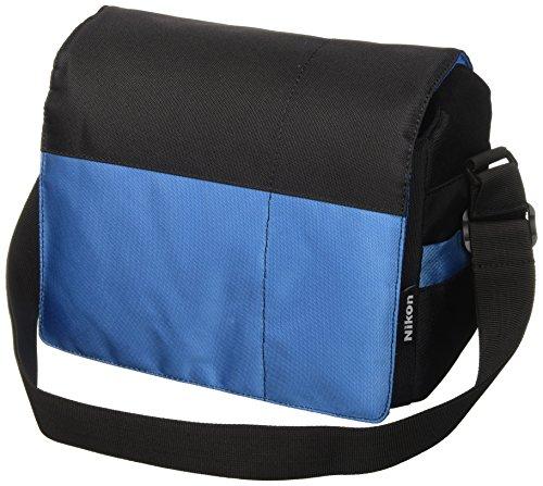 Nikon SLR - Bolso para cámaras réflex, Negro y Azul