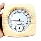 LjzlSxMF Sauna Thermometer, Holz Induktive Pointe Feuchtigkeit Multifunktionale Meter Hygrometer für Outdoor Indoor
