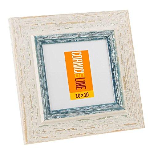 Cornice in legno Quadrata 246 Blu Cornice da Muro 20x20