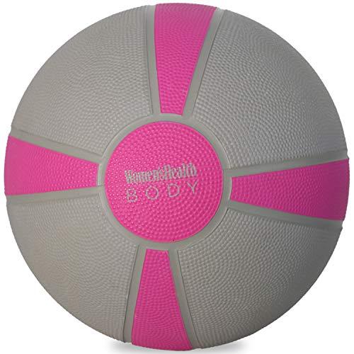 Women s Health BODY Wall-Ball - Balón Medicinal, Gris, Magenta.