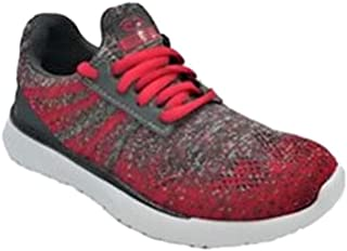 Boys Lightweight Knit Top Sneakers Gray & Red