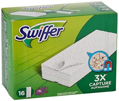 Swiffer Panni di Ricambio per Scopa, per Catturare e Intrappolare 3 Volte più Polvere, Sporco e Peli di una Scopa Tradizionale, 16 Pezzi