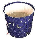 Ryyland-Home Barril de baño Plegable Aislamiento del hogar for Adultos baño en barrica Espesado Adulto Agua Barril bañera portátil Bañera portátil (Color : Blue, Size : 65x65cm)