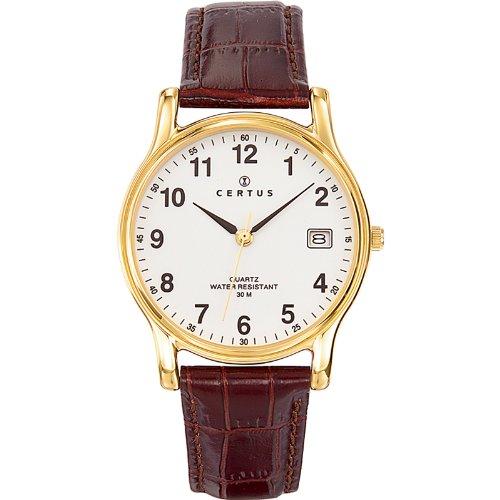 Certus 611235 - Orologio da polso uomo, colore: marrone