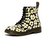 Dr. Martens 1460 Pascal (Little Kid/Big Kid) Black/DMS Yellow 2 UK (US 3 Little Kid) M