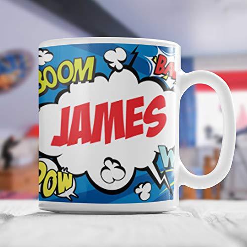 Taza de cómic personalizada de alta calidad para niños, añade un mensaje especial, taza personalizada para niños, taza personalizada para niños, taza personalizada con nombre para niños