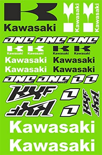 senza marca Kit Stickers Fox Adesivi Kawasaki KXF Sponsor Moto Compatibile per Honda KTM Cross Enduro Casco