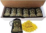 Buffalo Bills Gold Nugget Bubble Gum 15-Ct Boxes (15 black 2oz burlap bags of gold nugget gum)