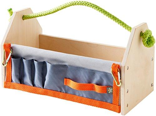 HABA 303568 - Terra Kids Werkzeugkasten-Bausatz, vielseitiger Werkzeugkasten zum selber bauen für Kinder, Werkzeugkiste aus Holz, mit integrierter Werkzeugtasche, kreatives Set zum Werkeln für Kinder